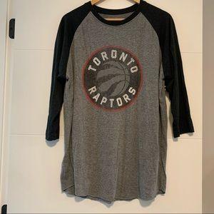 NBA   Toronto Raptors Baseball Tee Shirt